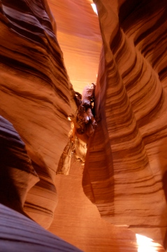 Upper Antelope Canyon- objet bloqué par les crues