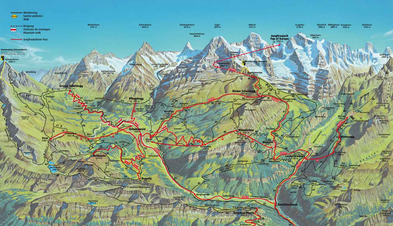 Hiking map of the Berner Oberland Rick Steves Travel Forum
