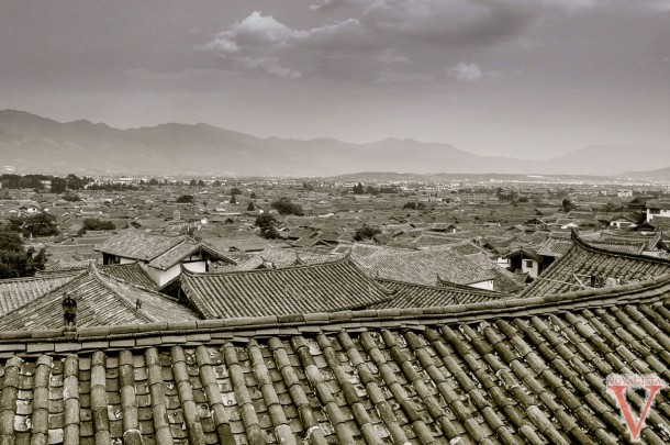Roofs of Lijiang in Yunnan province